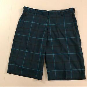 Nike Golf Men's Shorts Tour Blue Plaid Size 34